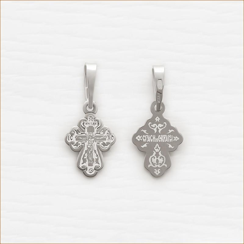 Крестик серебряный арт.10193