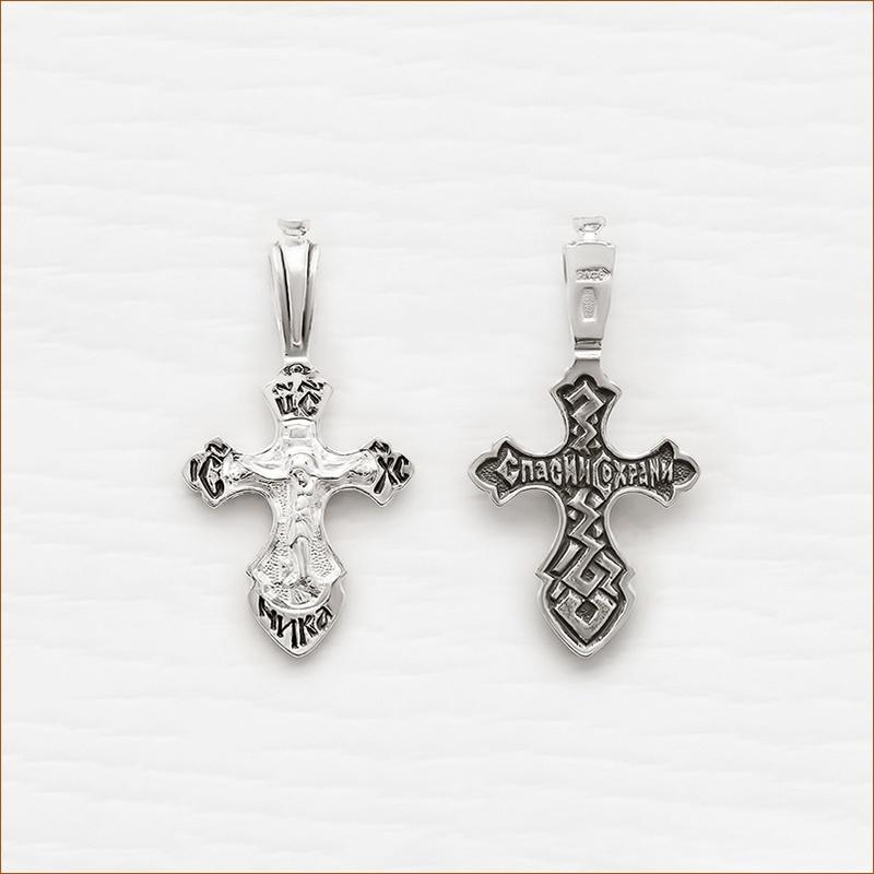 детский серебряный крестик арт.03060