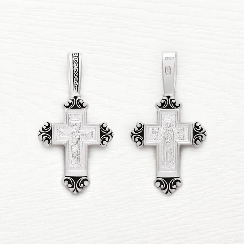серебряный крестик с чернением арт.03023