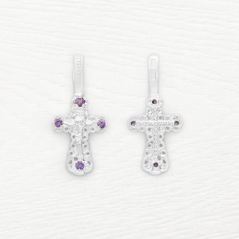 маленький серебряный крестик для ребенка арт.03268