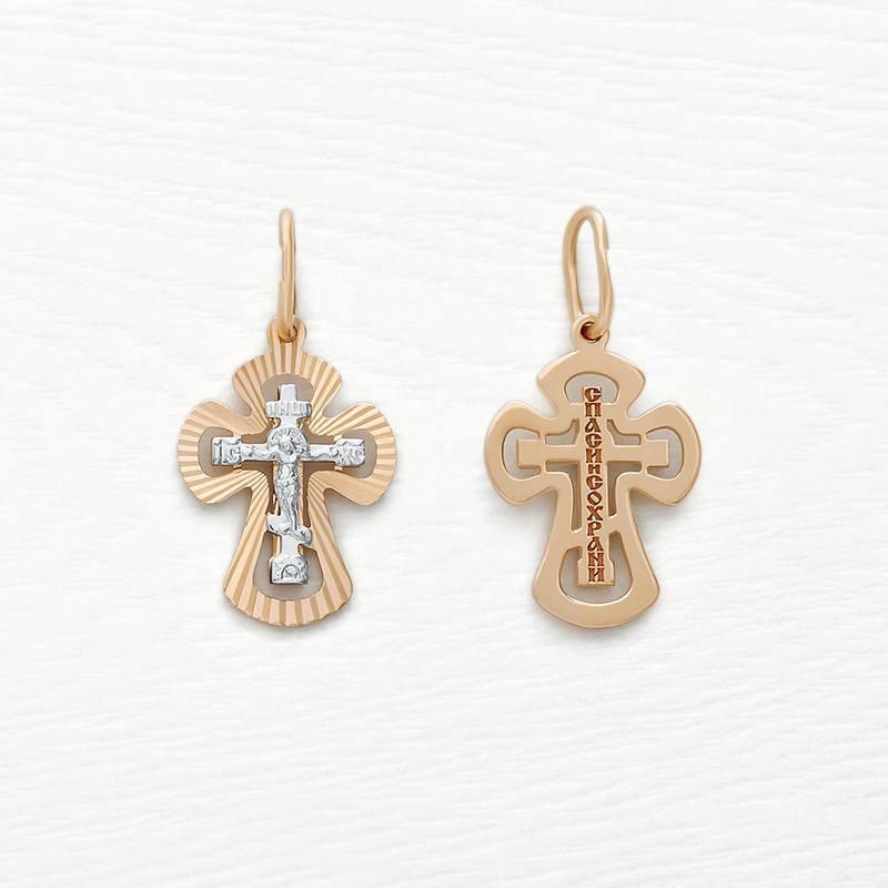 Золотой крестик арт.121390, маленький