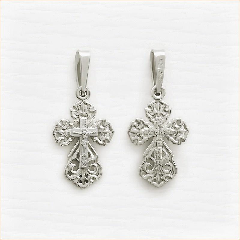 небольшой серебряный крестик арт.11996