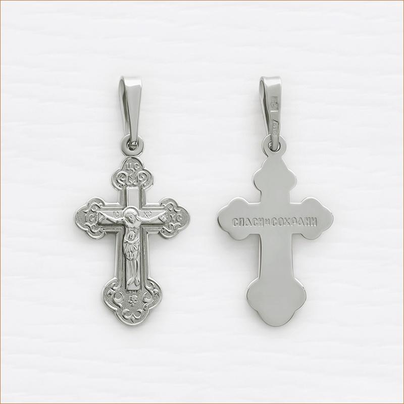 Крестик серебряный арт.10223