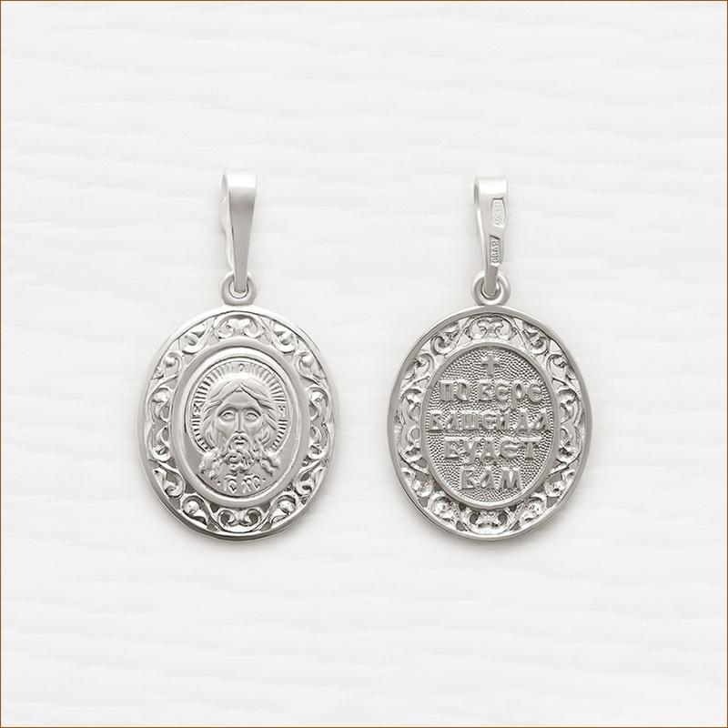 серебряный образок арт.12047 Господь Вседержитель