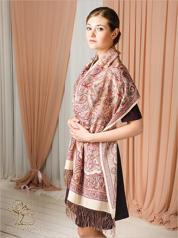 шелковый шарф размером 50х190