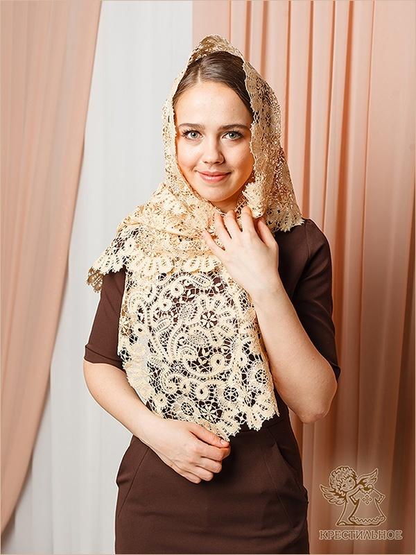 палантин ручного плетения размером 155х38