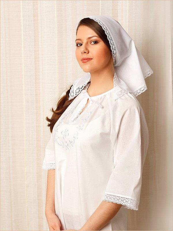 df850c682acdb34 ... Женская крестильная рубашка Людмила; крестильное платье из бязи ...