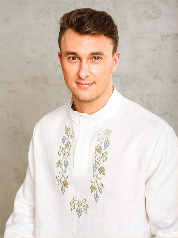 вышивка на крестильной рубашке для взрослых