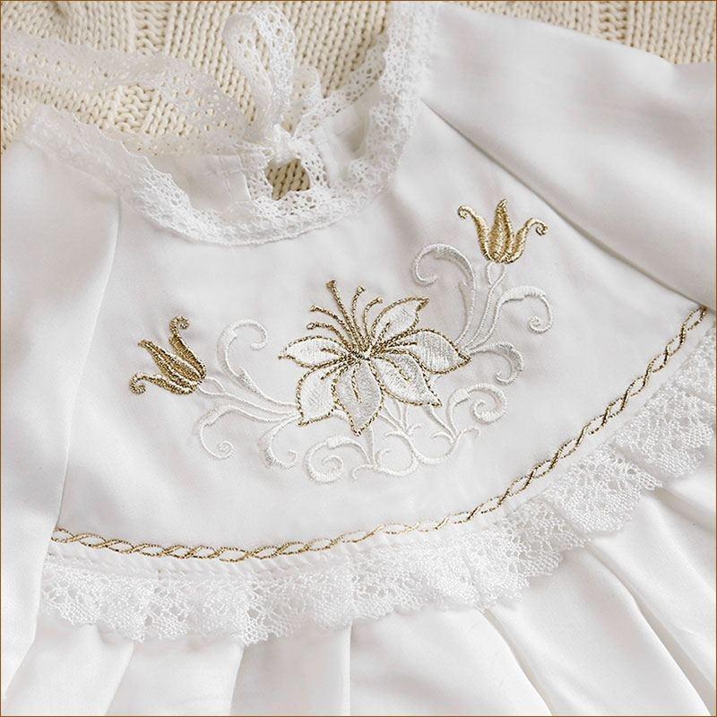 крестильное платье елизавета вышивка на кокетке