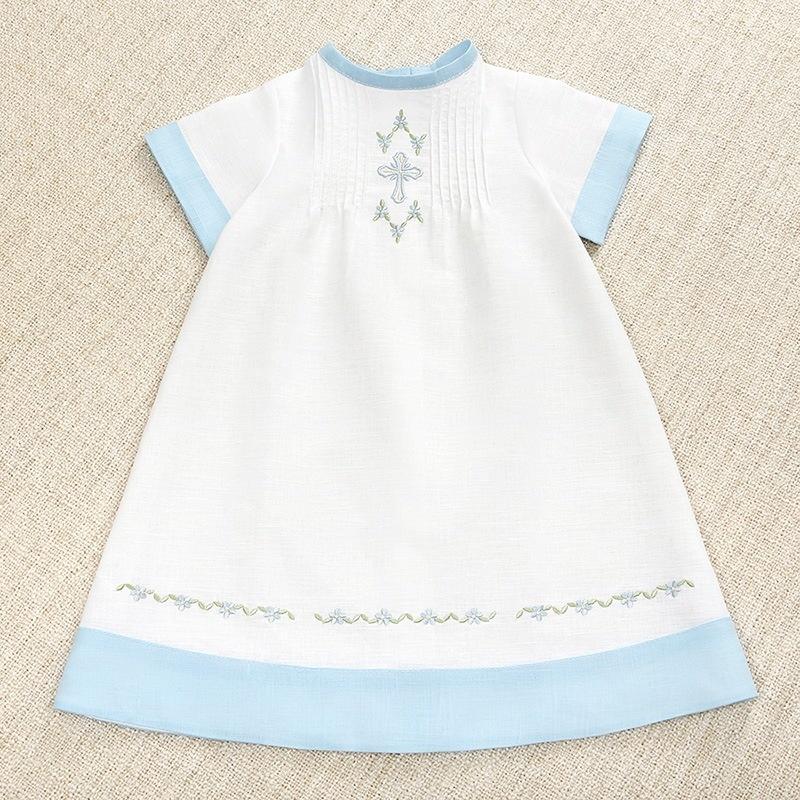 платье для крещения Незабудка