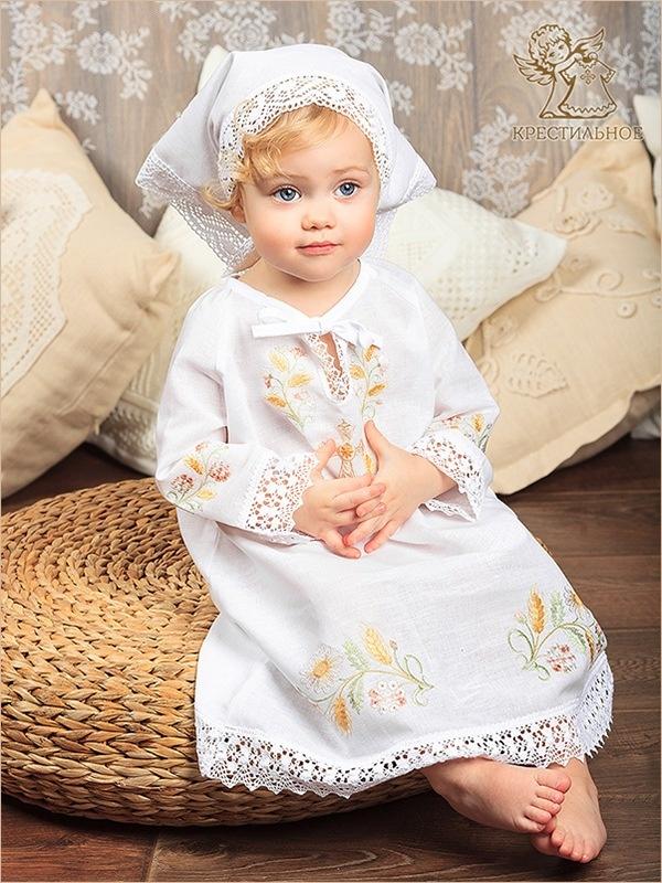крестильная сорочка с косынкой