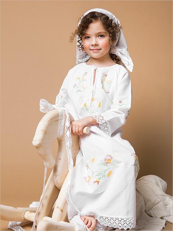крестильное платье на девочку 5 лет