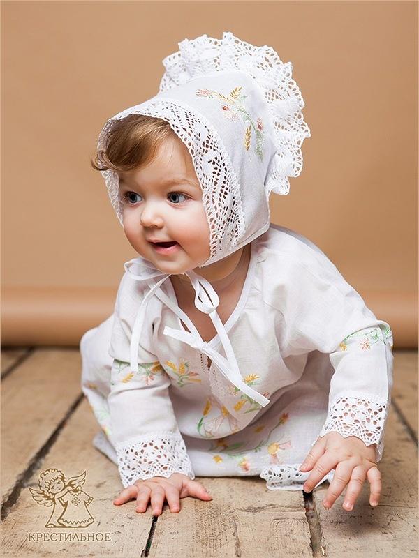 крестильная сорочка для малышки 6 месяцев
