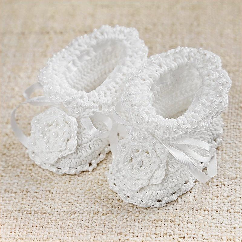 пинетки вязаные с бисером