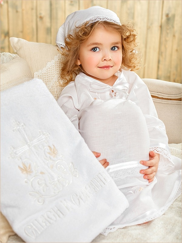 полотенце крестильное для девочки