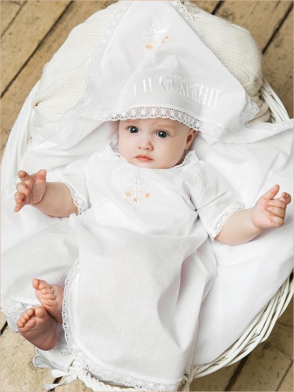 пеленка для крещения девочки, вышитый капюшон