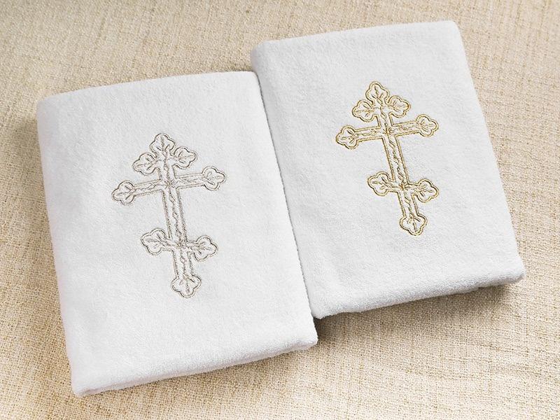 полотенце для крещения с православным крестом