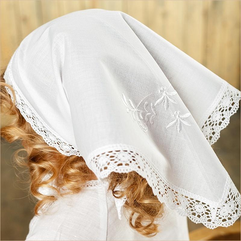 платок кружевной на голову