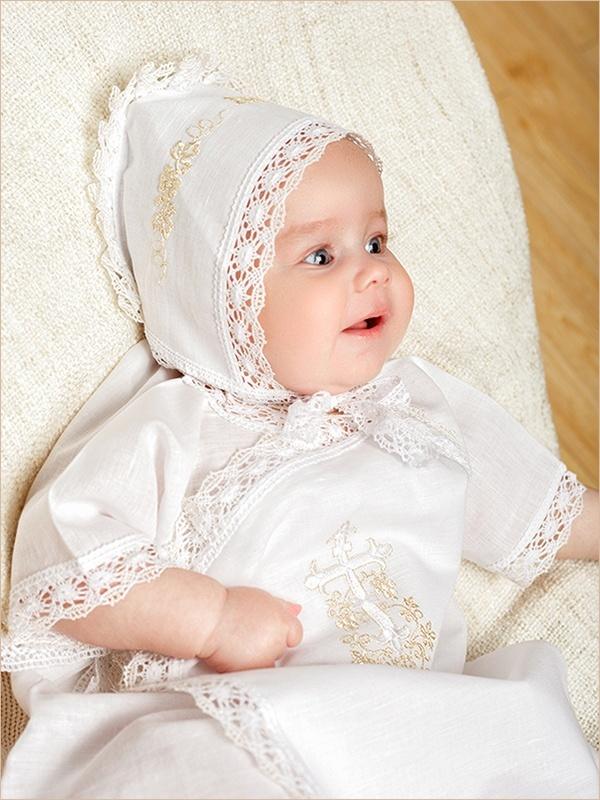 чепчик с церковной вышивкой