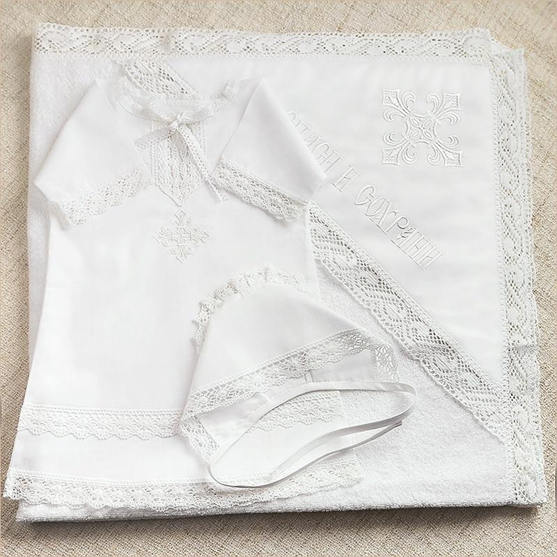 детский крестильный комплект с полотенцем