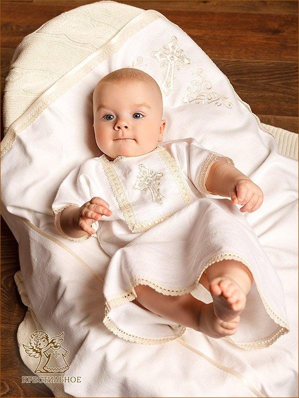 набор из тёплой фланели для крещения