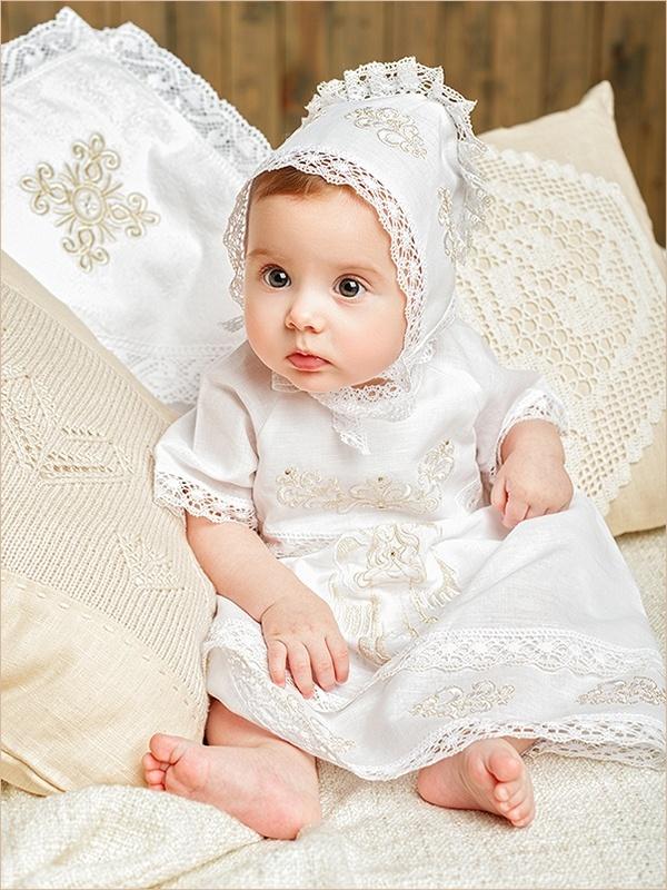 крестильный комплект для девочки