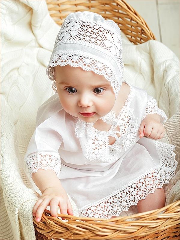 крестильная сорочка, модель Ирина на ребенке