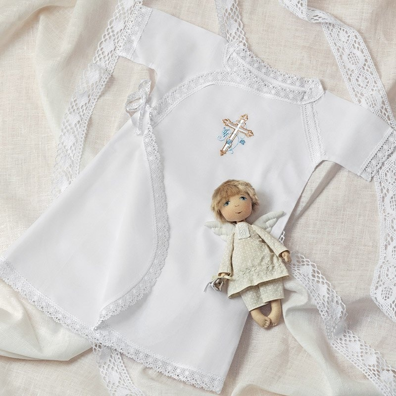 распашная рубашка с православной вышивкой