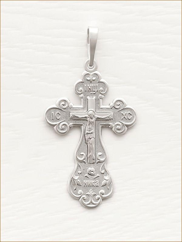 крестик серебряный арт.10471