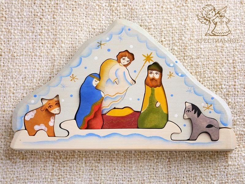 деревянный пазл Рождество