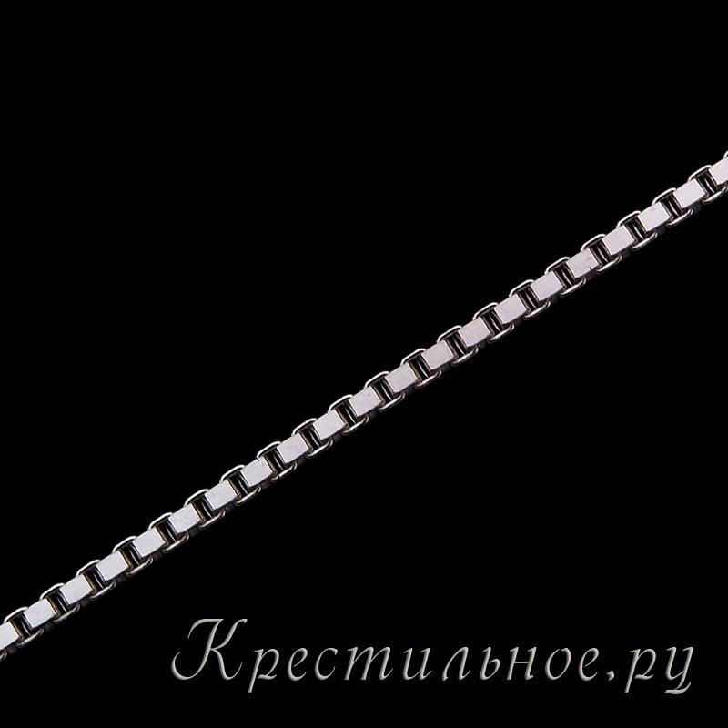 серебряная цепочка венецианское плетение