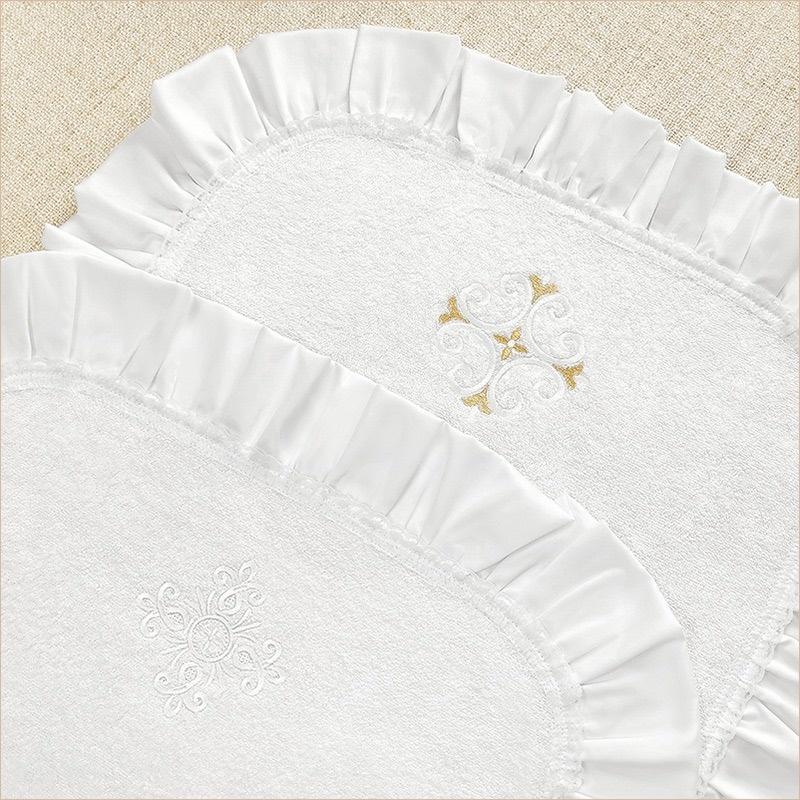 Махровая пеленка с рюшами малая
