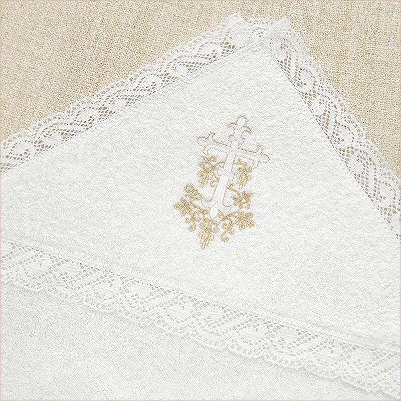 махровое полотенце с капюшоном из набора