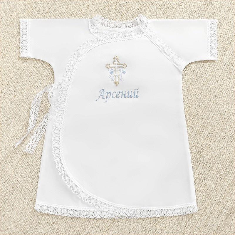 именная крестильная рубашка для мальчика