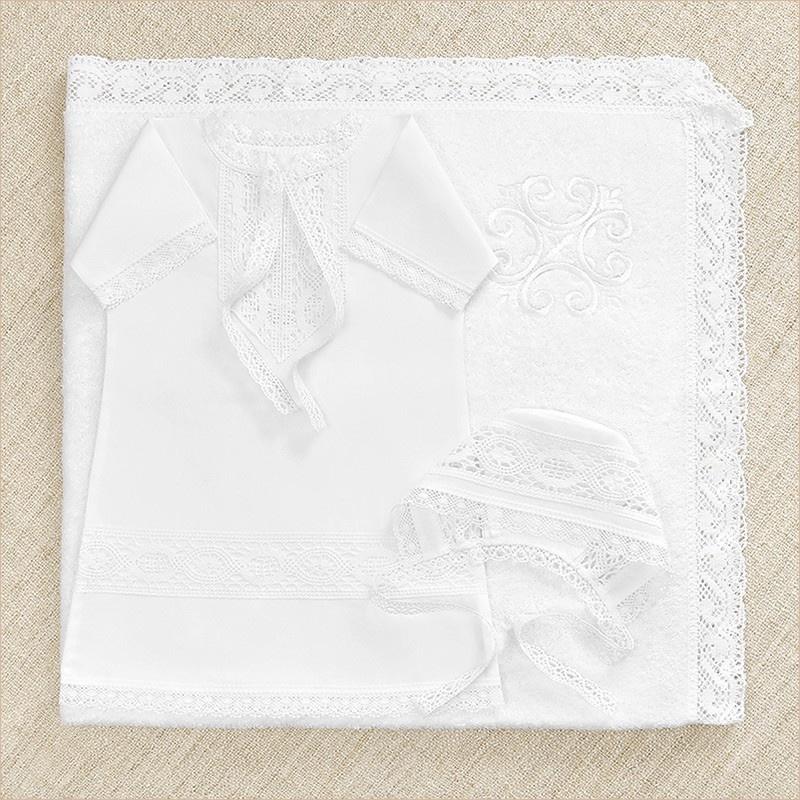 Комплект крестильный для мальчика с полотенцем