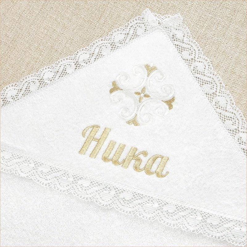 Пример вышивки имени на полотенце