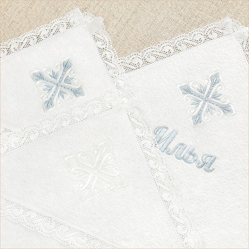 """Кружевное полотенце """"Лучистый крест"""""""