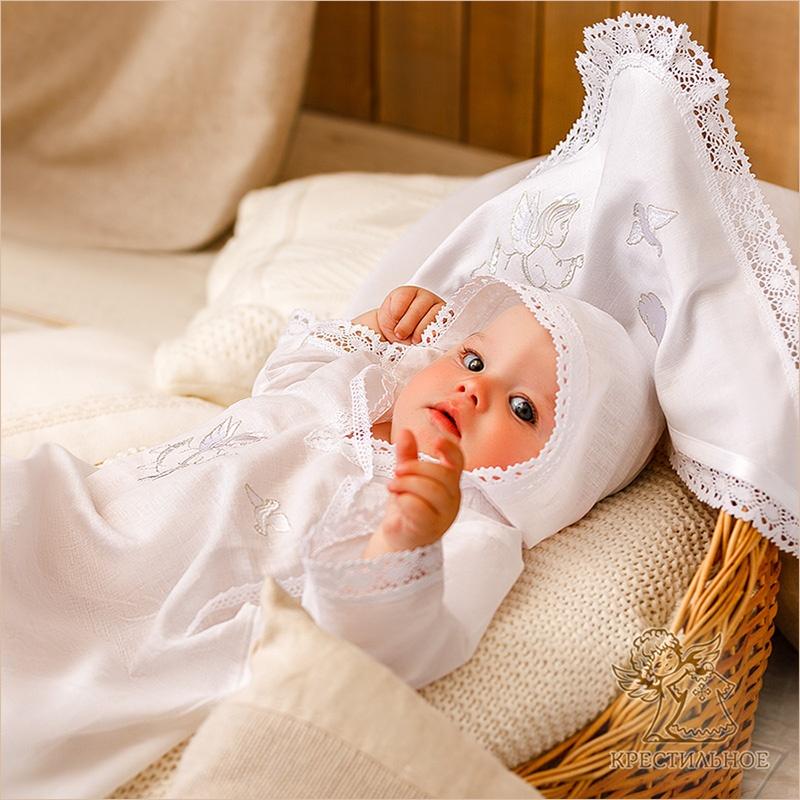 """Набор для Крещения """"Ангел с голубкой"""""""