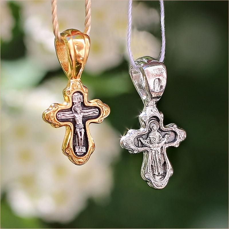 крест в позолоте и серебре, обратная сторона