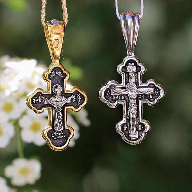 Крест арт.08010, в позолоте и серебре