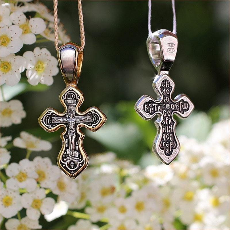 крест арт.08336, в позолоте и серебре