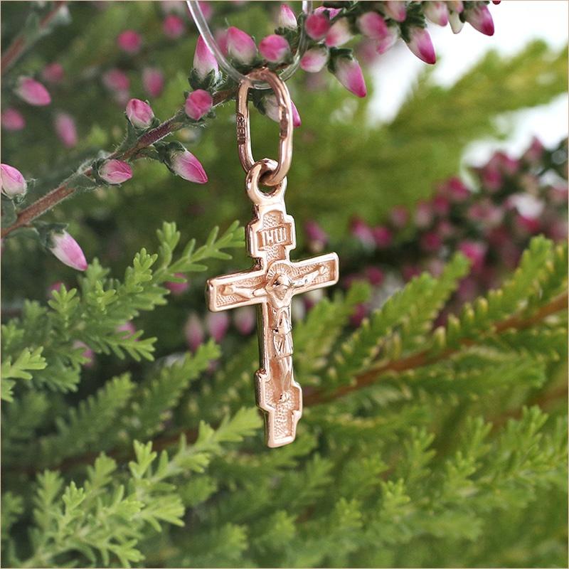 миниатюрный крестик из золота для ребенка SOKOLOV