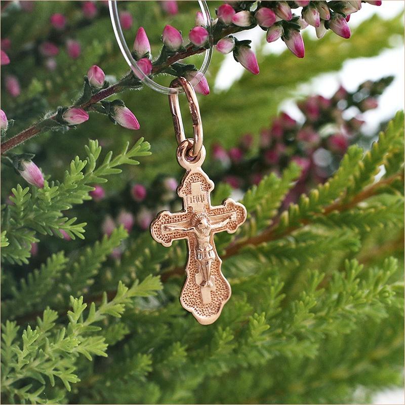 малюсенький золотой крестик для новорожденного SOKOLOV
