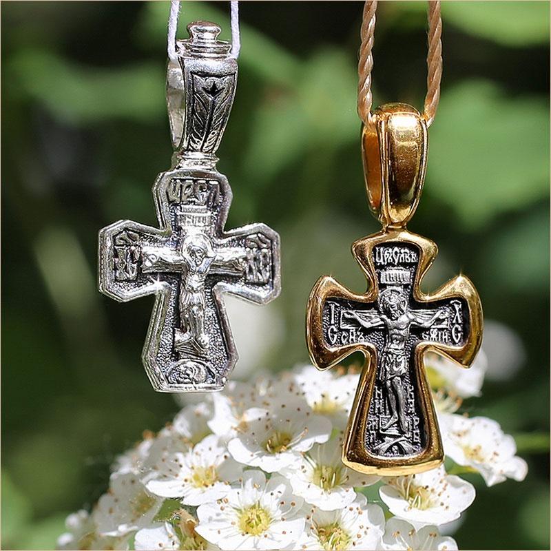 серебряный арт.03414 и позолоченный арт.08234 кресты