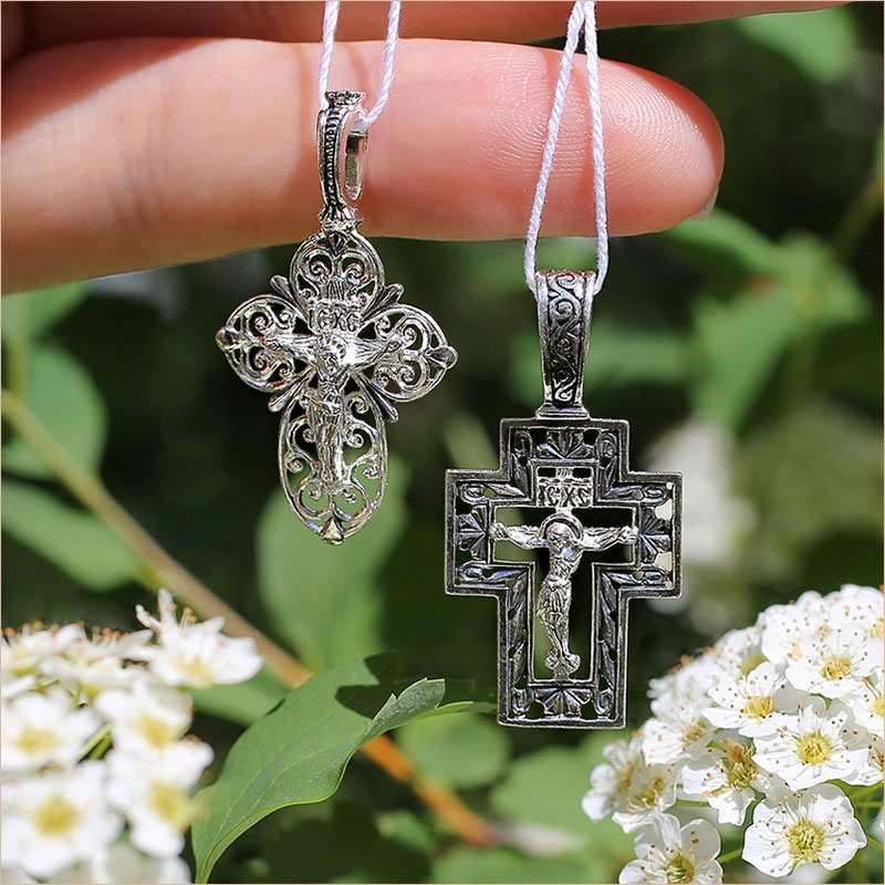 ажурные серебряные кресты 03550 и 03549