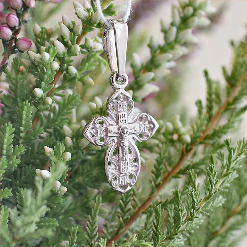 серебряный крестик детский арт.11979 освященный