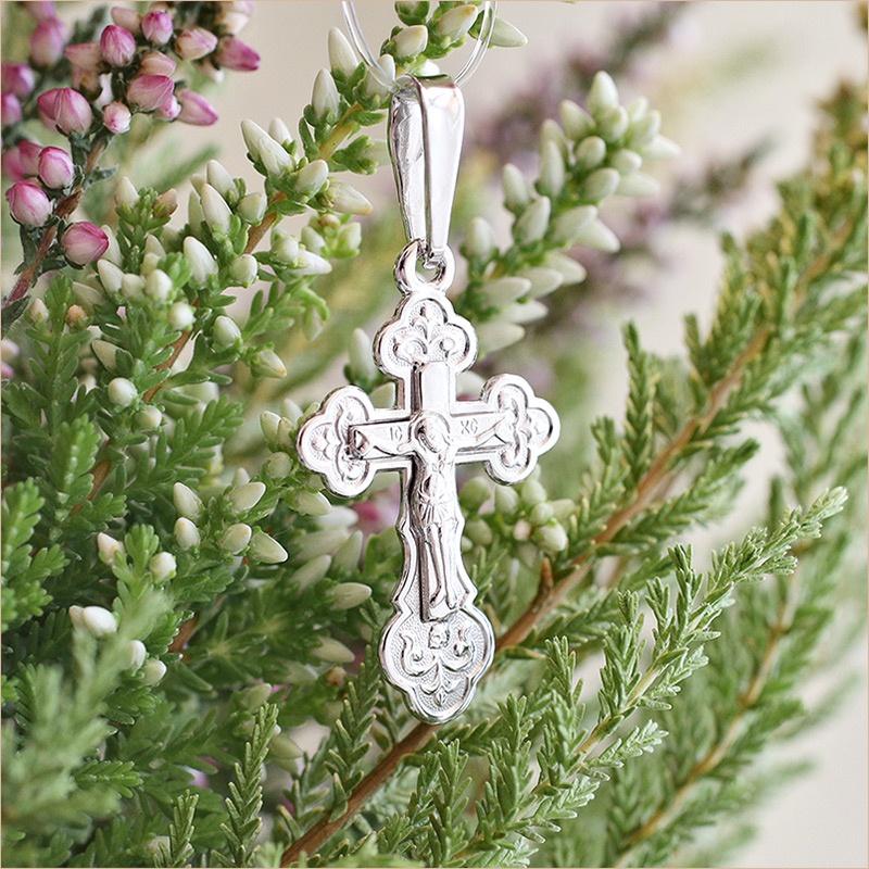серебряный крестик детский арт.11991 классической формы