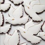 имбирное печенье голубь с крестиком